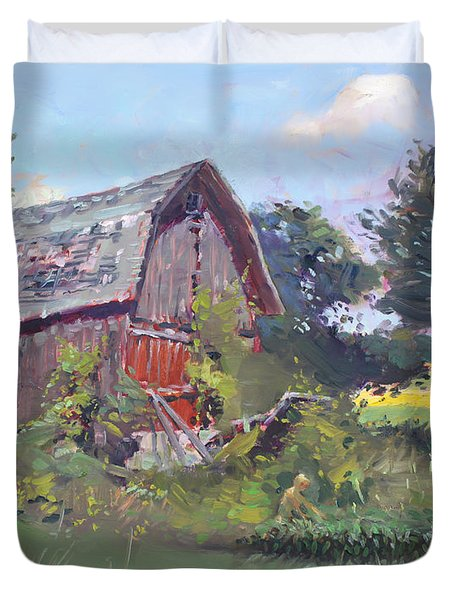 Old Barns  Duvet Cover