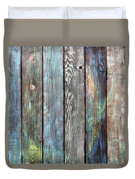Old Barnyard Gate Duvet Cover by Asha Carolyn Young