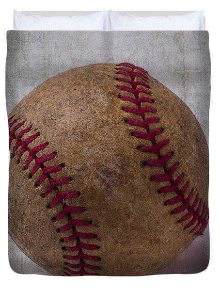 Old Baseball Duvet Cover