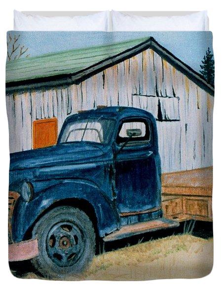 Old Blue Duvet Cover