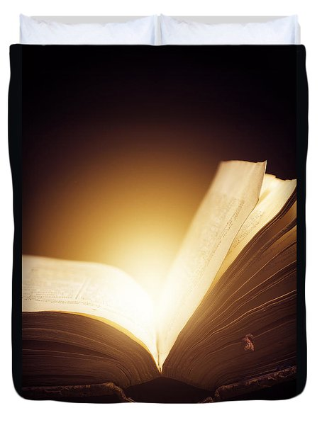 Old Book Duvet Cover