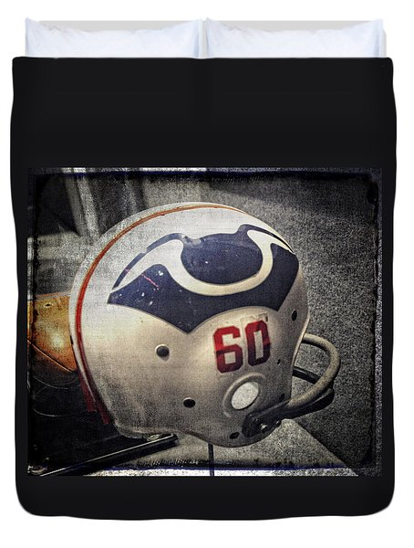Old Boston Patriots Football Helmet Duvet Cover