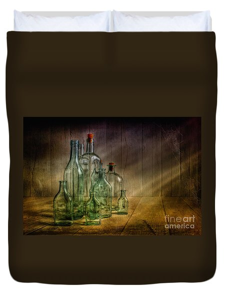 Old Bottles Duvet Cover by Veikko Suikkanen