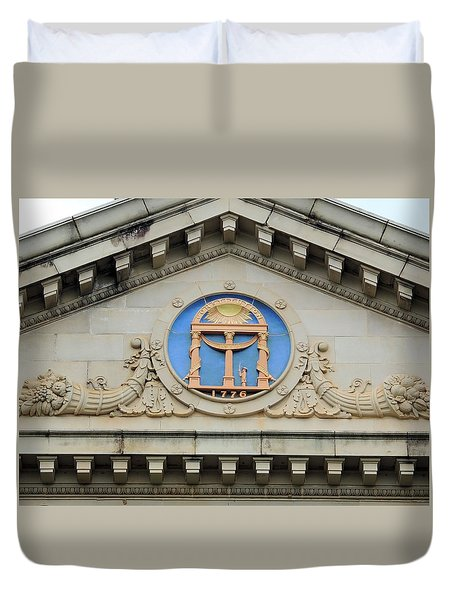 old Building arch Duvet Cover