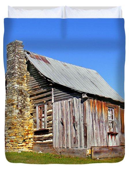 Old Cabin Along Macedonia Church Road Duvet Cover