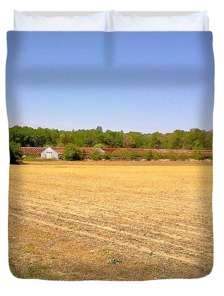 Old Chicken Houses Duvet Cover by Amazing Photographs AKA Christian Wilson