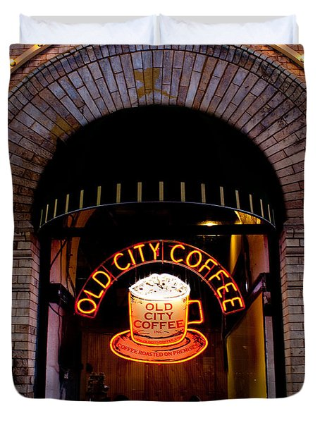 Old City Coffee Duvet Cover