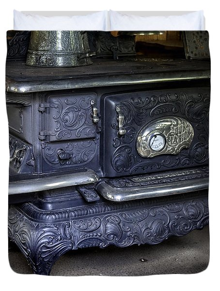 Old Clarion Wood Burning Stove Duvet Cover by Lynn Palmer