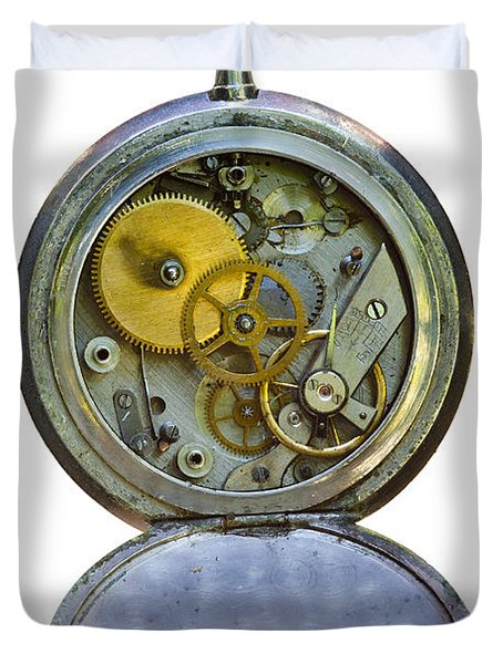 Old Clock Duvet Cover by Michal Boubin