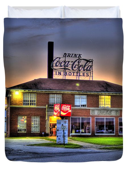 Old Coca Cola Bottling Plant Duvet Cover by Jonny D