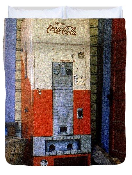 Old Coke Machine Duvet Cover