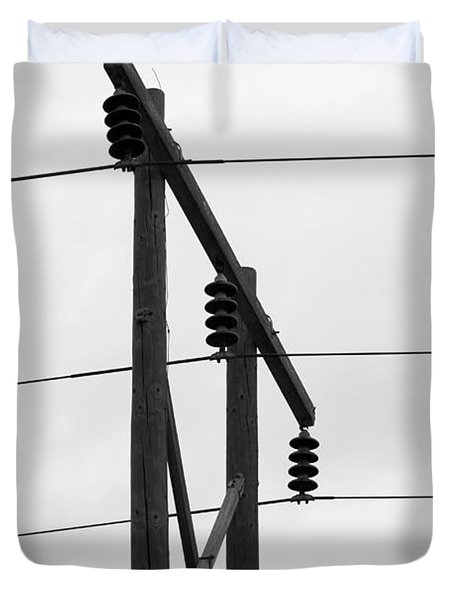 Old Country Power Line Duvet Cover