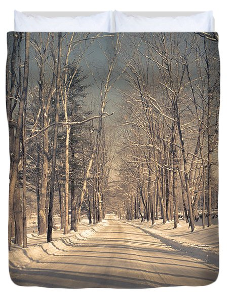 Old Country Road Duvet Cover