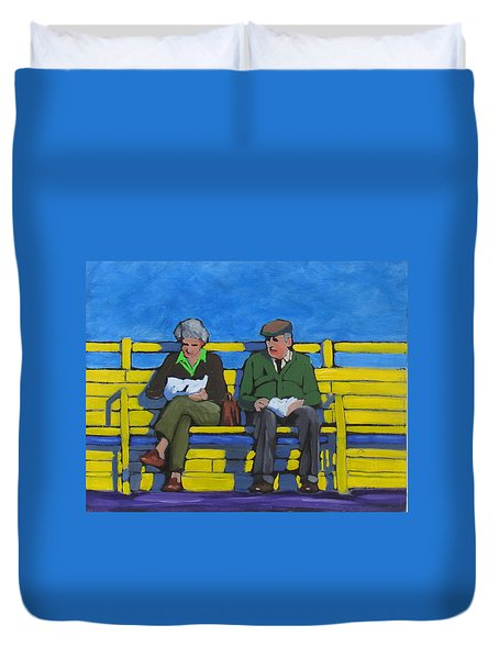 Old Couple Duvet Cover