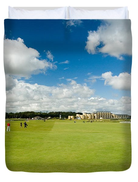 Duvet Cover featuring the photograph Old Course Fairways by Jeremy Voisey