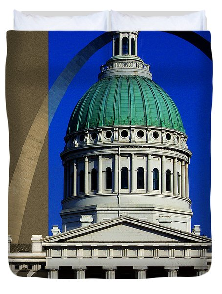 Old Courthouse Dome Arch Duvet Cover