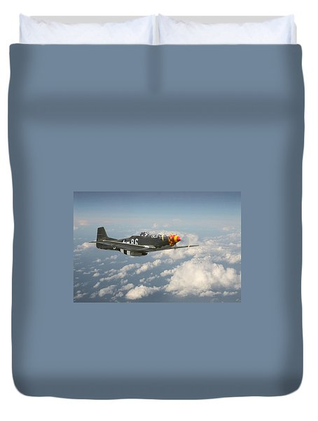 P51 Mustang - 'old Crow' Duvet Cover