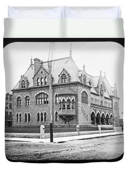 Old Customs House And Post Office Evansville Indiana 1915 Duvet Cover