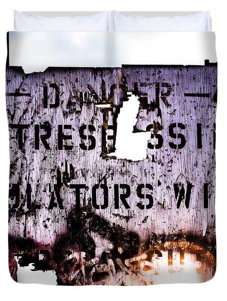 Old Danger Duvet Cover