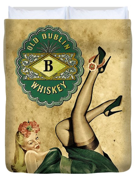 Old Dublin Whiskey Duvet Cover by Cinema Photography