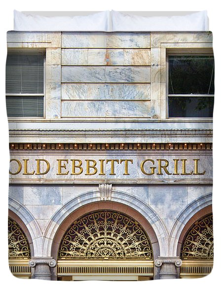 Duvet Cover featuring the photograph Old Ebbitt Grill by Jemmy Archer