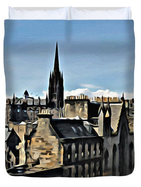 Olde Edinburgh Duvet Cover