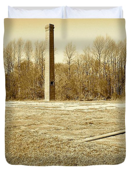Old Faithful Smoke Stack Duvet Cover