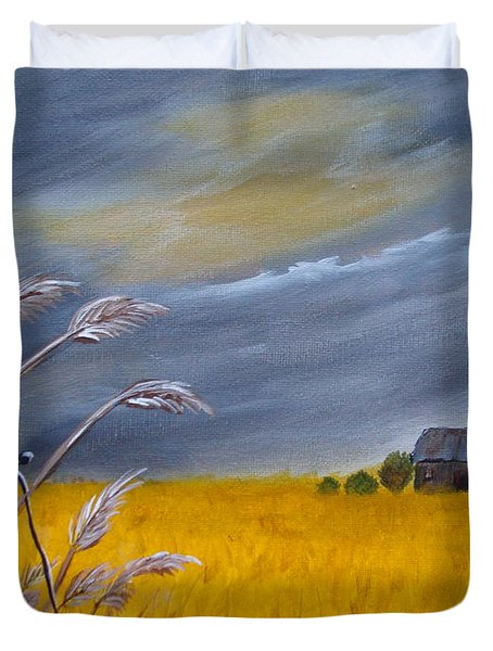 Old Farm 1 Duvet Cover by Beverly Livingstone