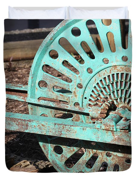 Old Farm Equipment Duvet Cover