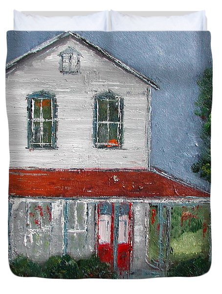 Old Farm House Duvet Cover by Anna Ruzsan