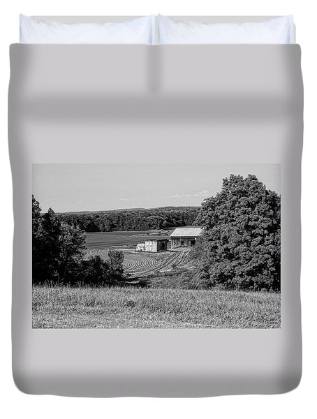 Old Farm House Revisited Duvet Cover