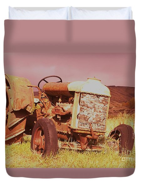 Old Farm Tractor  Duvet Cover by Jeff Swan