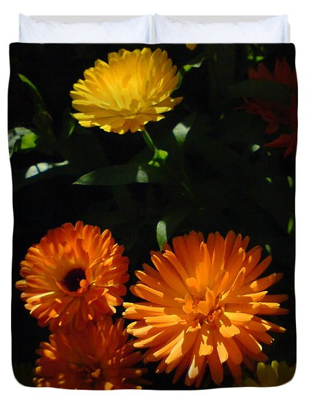 Old-fashioned Marigolds Duvet Cover by Martin Howard