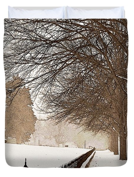 Old Fashioned Winter Duvet Cover by Chris Berry