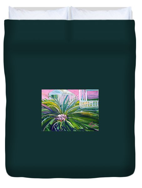 Old Florida Duvet Cover by Patricia Taylor