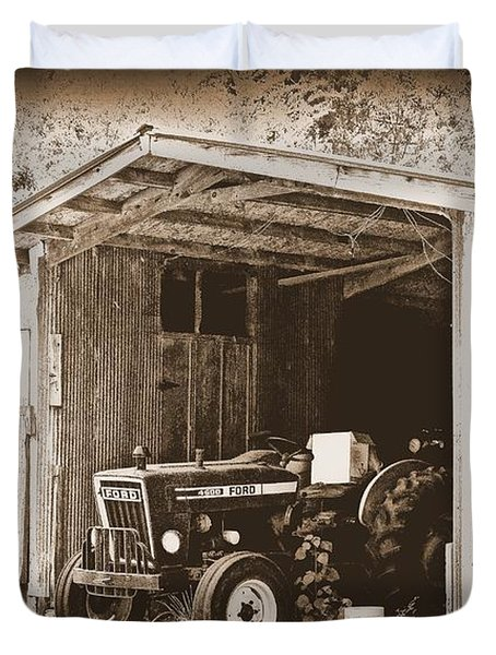Duvet Cover featuring the photograph Old Ford by Faith Williams