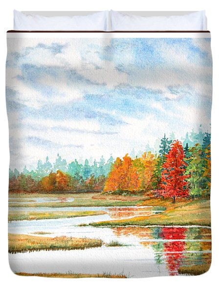 Old Forge Autumn Duvet Cover