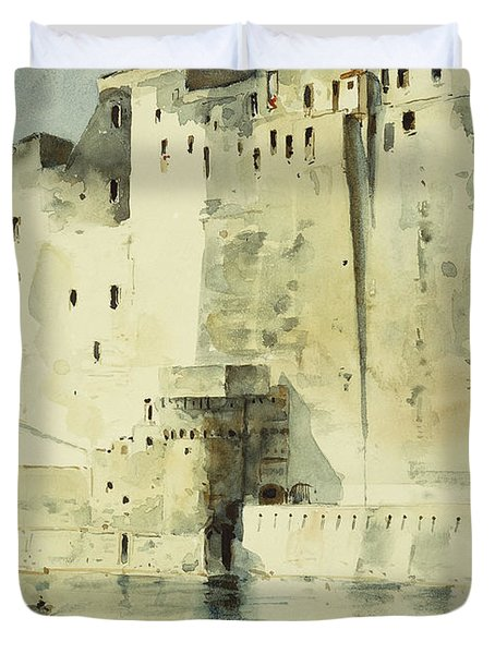 Old Fortress Naples Duvet Cover by Childe Hassam