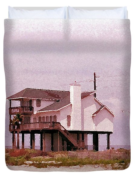 Old Galveston Duvet Cover by Tikvah's Hope