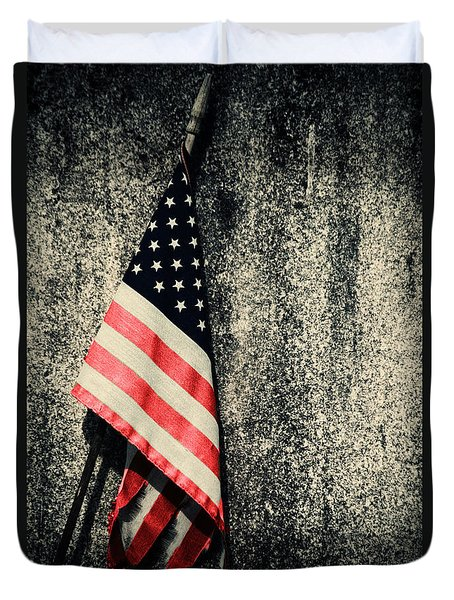 Old Glory Duvet Cover by Karol Livote