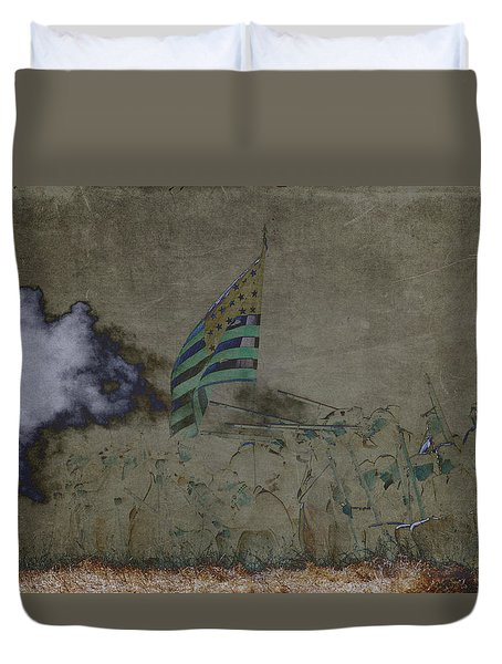 Old Glory Standoff Duvet Cover by Wes and Dotty Weber