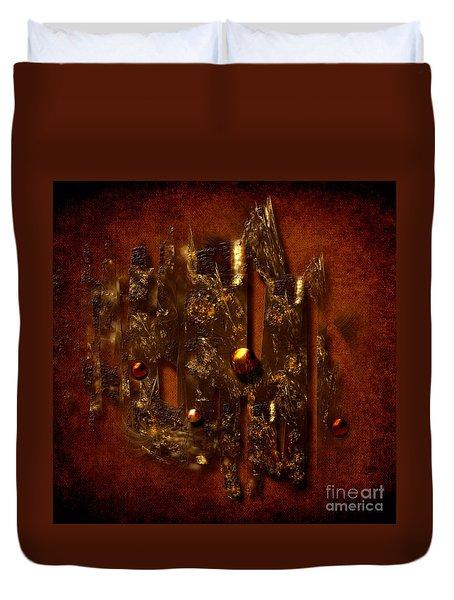 Oldgold Duvet Cover by Alexa Szlavics
