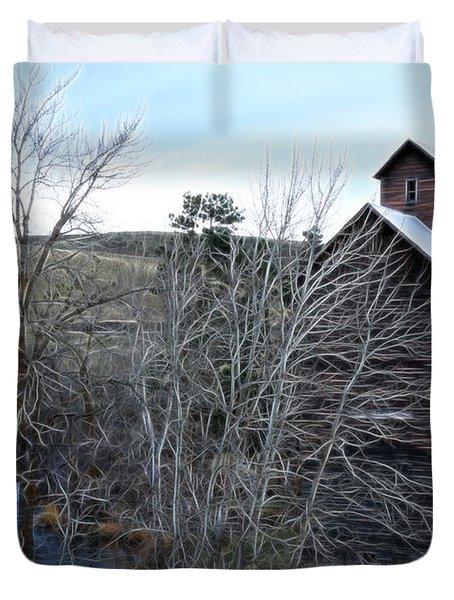 Old Grain Barn Duvet Cover by Steve McKinzie