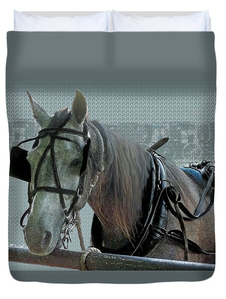 Old Gray Mare Duvet Cover