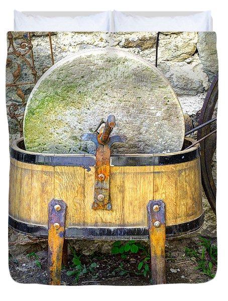Old Grindstone Duvet Cover by Ivan Slosar