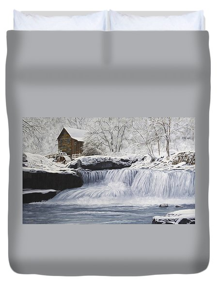 Old Grist Mill Duvet Cover by Johanna Lerwick