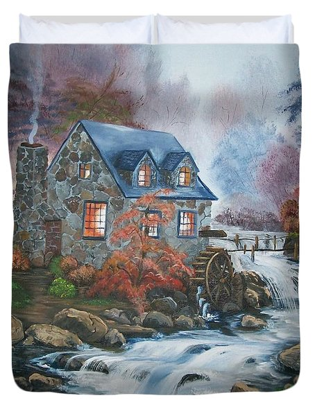 Old Grist Mill Duvet Cover