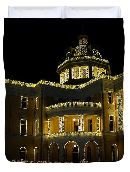 Old Harrison County Courthouse Duvet Cover