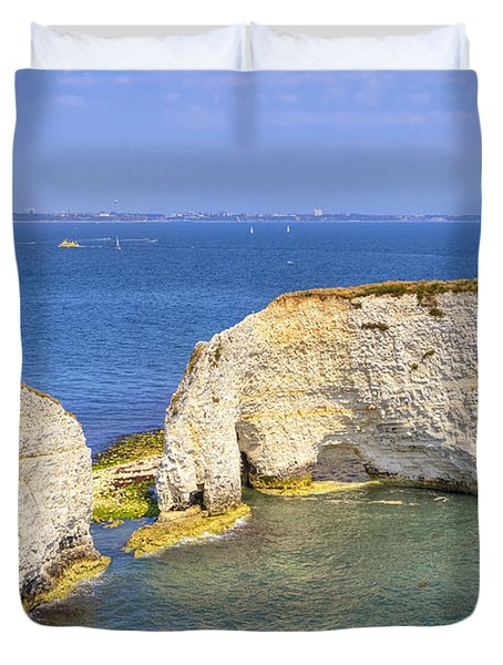 Old Harry Rocks - Purbeck Duvet Cover by Joana Kruse