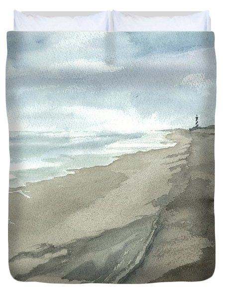 Old Hatteras Light Duvet Cover by Joel Deutsch